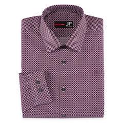 JF J.Ferrar Long Sleeve Woven Geometric Dress Shirt