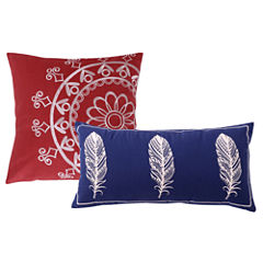 Greenland Home Fashions Dream Catcher 2-Pack Square Throw Pillow