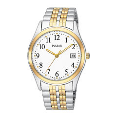 Pulsar® Mens Two-Tone Stainless Steel Watch PXH448