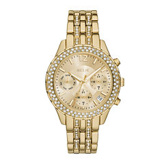 Relic® Merrit Womens Crystal-Accent Gold-Tone Bracelet Watch ZR15786
