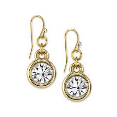 1928® Jewelry Crystal Drop Gold-Tone Earrings