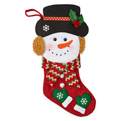 North Pole Trading Co. Christmas Cheer Snowman Christmas Stocking
