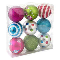 North Pole Trading Co. Christmas Cheer Shatterproof Brights 9-pc. Christmas Ornament