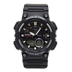 Casio® Mens Black 3D Dial Heavy Duty Strap Watch AEQ110W-1AV