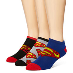 DC Comics® Superman 3-pk. Low-Cut Socks