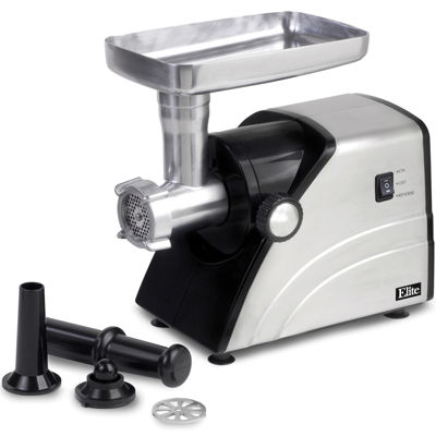 elite platinum ha3433a stainless steel meat grinder
