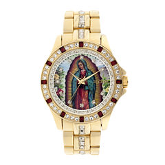 Elgin® Mens Our Lady of Guadalupe Watch