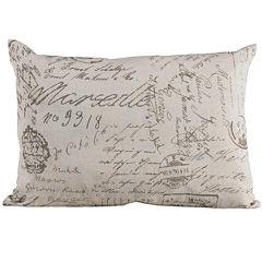 HiEnd Accents Fairfield Oblong Paris Script Decorative Pillow