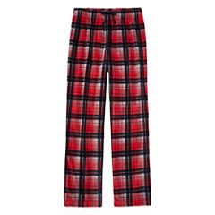 Arizona Microfleece Red Plaid Pajama Pant-Boys 4-20 & Husky
