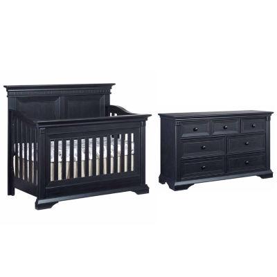 Ozlo Baby Galloway 2 PC Baby Furniture Set Navy Mist