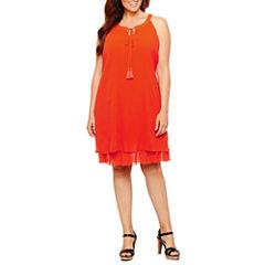 Worthington Sleeveless Sheath Dress-Plus