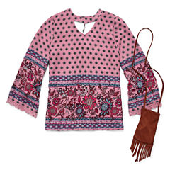 Arizona Boho Choker Top w/ Purse - Girls' 7-16 and Plus
