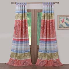 Barefoot Bungalow Hillsborough Tab-Top Curtain Panel