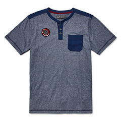 Distortion Short Sleeve Henley Shirt Boys 8-20