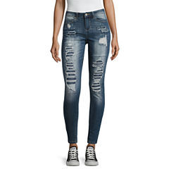 Vanilla Star Destructed Skinny Fit Jeans-Juniors