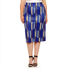 Worthington Knit Pencil Skirt Plus