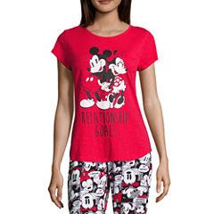 Disney Short Sleeve Scoop Neck Pajama Top-Juniors