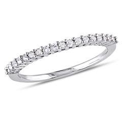 Womens 1/5 CT. T.W. Genuine White Diamond Sterling Silver Wedding Band