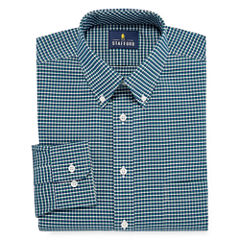 Stafford Travel Wrinkle-Free Oxford Long Sleeve Dress Shirt Big and Tall