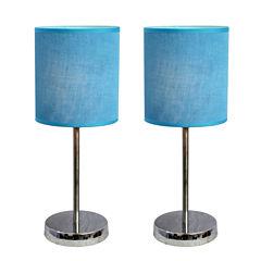 Simple Designs 2-pc. Metal Table Lamp