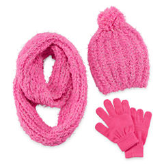 Total Girl 3-pc. Cold Weather Set-Big Kid Girls