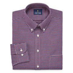 Stafford Travel Wrinkle-Free Oxford Long Sleeve Dress Shirt Big and X-Tall