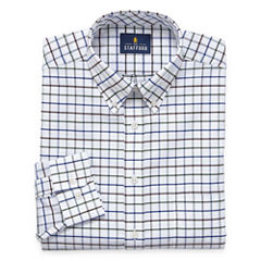 Stafford Travel Wrinkle-Free Oxford Long Sleeve Dress Shirt Big and X - Tall