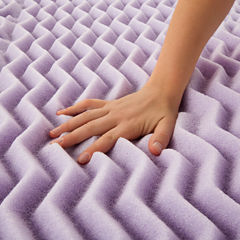 Lucid 2 Inch 5-Zoned Lavender Memory Foam Mattress Topper