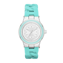 Womens Braided Silicone Strap Watch