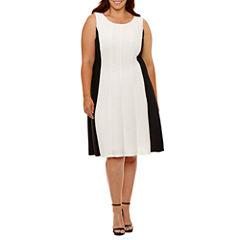 Ronni Nicole Sleeveless Fit & Flare Dress-Plus