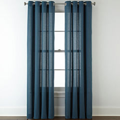 JCPenney HomeTM Cotton Classics Solid Grommet Top Curtain Panel