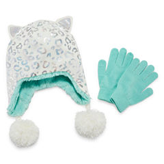 Capelli of N.Y. Cheetah Cold Weather Set-Big Kid Girls