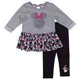 Disney by Okie Dokie 2-pc. Minnie Mouse Legging Set-Preschool Girls
