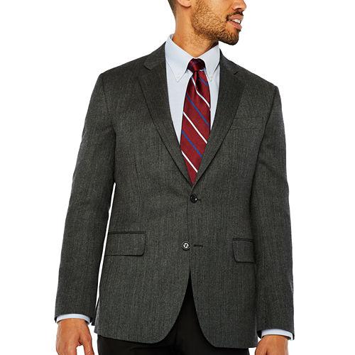 Stafford Merino Wool Sportcoat Charcoal Twill - Classic