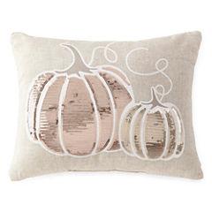 JCPenney Home™ Sequins Pumpkin Decorative Pillow