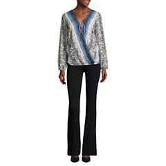 Alyx® Long-Sleeve Wrap-Front Woven Top or Straight-Leg Millennium Pants