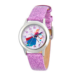 Disney Princess Anna Frozen Girls Purple Strap Watch-Wds000195