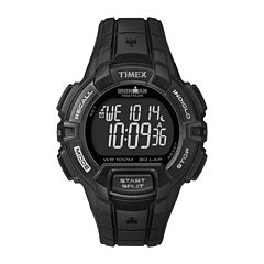 Timex® Ironman Rugged Mens 30-Lap Black Dial Watch