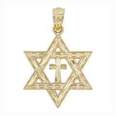 Religious Jewelry 14K Yellow Gold Interfaith Charm Pendant