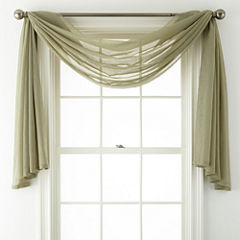 Royal Velvet® Crushed Voile Scarf Valance