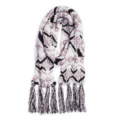 Muk Luks Tribal Oblong Knit Cold Weather Scarf