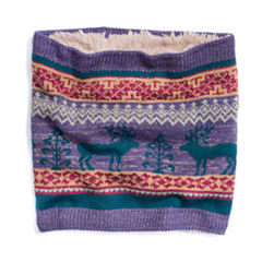 Muk Luks Fairisle Loop Knit Cold Weather Scarf