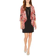 R & K Originals 3/4 Sleeve Jacket Dress