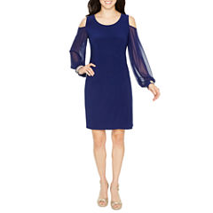 MSK Long Sleeve Shift Dress