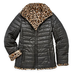 Gallery Midweight Leopard Puffer Jacket - Girls-Big Kid