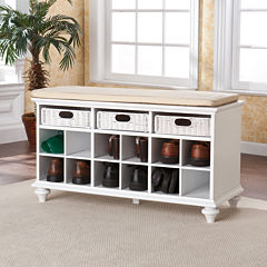 Delta Storage Bench with Rattan Drawers