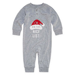 North Pole Trading Co. Checkin' It Twice Microfleece One Piece Pajama-Baby
