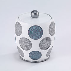 Avanti Dotted Circle Bathroom Canister