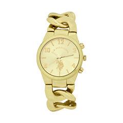 U.S. Polo Assn. Womens Gold Tone Bracelet Watch-Usc40069jc