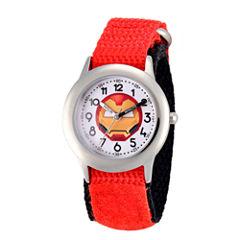 Emoji Marvel Boys Red Strap Watch-Wma000091